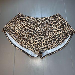 Victoria Secret Pink Leopard Sleep Comfy Shorts